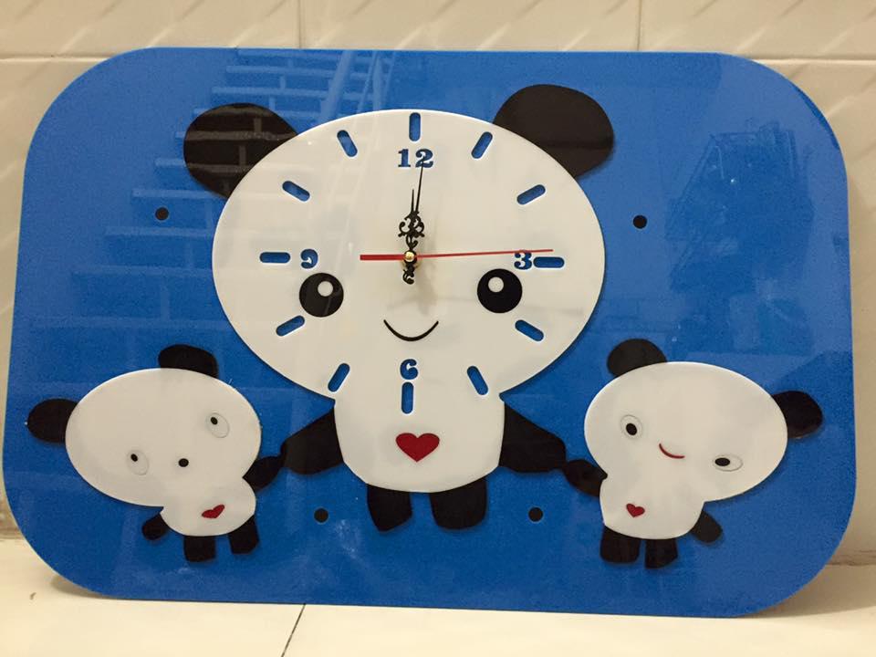 đồng hồ mica treo tường